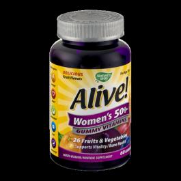 Alive! Women's 50+ Gummy Vitamins - 60ct