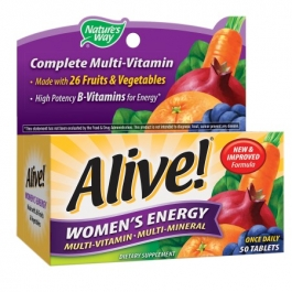 Nature's Way Alive! Women's Energy Multivitamin Multimineral Tablets- 50ct