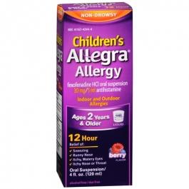 Allegra Children's Allergy Oral Suspension, Berry- 4oz