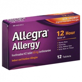 Allegra Allergy Tablets, 60mg- 12ct