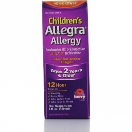 Allegra Children's Allergy Non-Drowsy Oral Suspension, Berry- 4oz