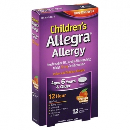 Allegra Children's Allergy Orally Disintegrating Tablets, Orange Cream- 12ct