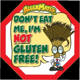 AllerMates Wheat-Gluten Allergen Alert Labels for Food Packages - 24 Label Pack