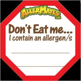 AllerMates Write In Allergen Alert Labels for Food Packages - 24 Label Pack