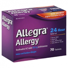 Allegra Allergy 24 Hour Non-Drowsy Tablets, 180mg- 70ct