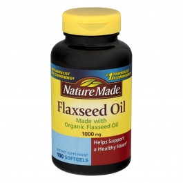 Nature Made Flaxseed Oil, 1000mg, Softgels, 100ct