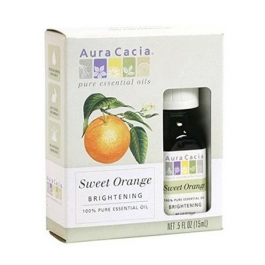 Aura Cacia Sweet Orange Brightening Essential Oil 0.5 oz
