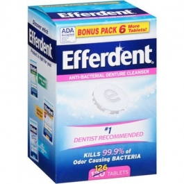 Efferdent Original Denture Cleanser Tablets 126 Ct
