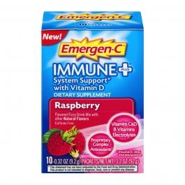 Emergen-C Immune Plus Supplement, Raspberry, 10 Count