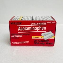 Major Acetaminophen 500mg - 24 Caplets
