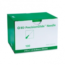 BD 305167, Needle Only 21 Gauge 1.5 inch 100/Box