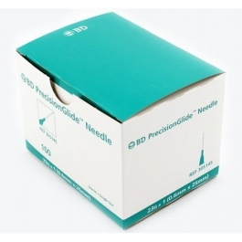 BD Precision Glide Needle Only 23 Gauge 1 inch 100/Box