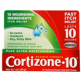 Cortizone 10 Ultra Moisturizing Maximum Strength Anti-Itch Creme with Aloe 1oz