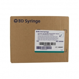"BD Syringe 23 Gauge, 3cc, 1 1/2"" TW (Thin Wall) Needle - 100 Count"