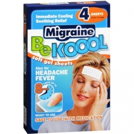 Bekoool Migraine Soft Gel Sheets For Adults - 4ct