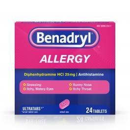 Benadryl Allergy Ultratab Tablets- 24ct