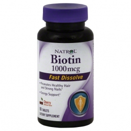 Natrol Biotin Fast Dissolve Tablets Cherry Flavored Supplement 1,000mcg - 90ct
