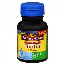 Nature Made Biotin 2500 mcg Dietary Supplement Liquid Softgels- 90ct