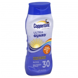 Coppertone Ultra Guard Sunscreen Lotion, SPF 30- 8oz