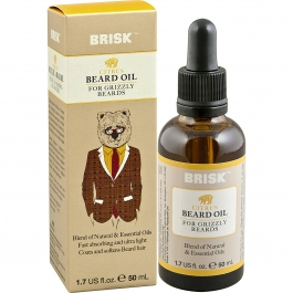 Brisk Beard Grooming Oil, Citrus- 1.7oz