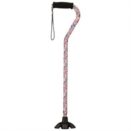 NOVA Medical Products Sugar Cane with Offset Handle, Butterfly Symphony
