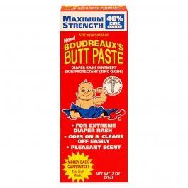 Boudreaux's Butt Paste Maximum Strength Diaper Rash Ointment - 2 oz