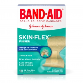 Band-Aid Brand Skin-Flex Finger Adhesive Bandages, 10 Count