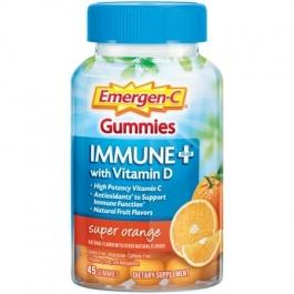 Emergen-C Immune+ with Vitamin D Gummies, Super Orange- 45ct