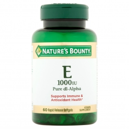 Nature's Bounty Pure dl-Alpha Vitamin E 1000IU 60ct