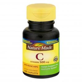 Nature Made Vitamin C 500mg Tablets w/Rose Hips 130ct