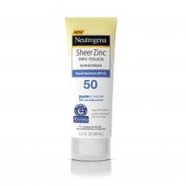 Neutrogena Sheer Zinc Dry-Touch Sunscreen, SPF 50, 3.0 fl oz