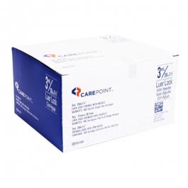 """CarePoint LuerLock Syringe, 20 Gauge, 3cc, 1 1/2"""" Needle - 100 Count"""