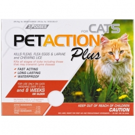 PetAction Plus Cats- 3 Doses