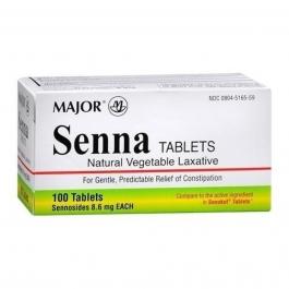 Major Senna Natural Vegetable Laxative (8.6mg) - 100 Tablets