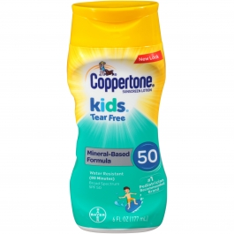 Coppertone Kids Sunscreen Tear Free Mineral Lotion SPF 50, 6 fl oz