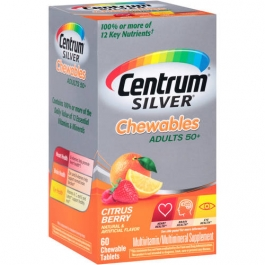 Centrum Silver Chewables Multivitamin and Multimineral Chewable Tablets Citrus Berry - 60ct