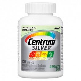 Centrum Silver Adults 50+ Multivitamin Tablets - 220ct