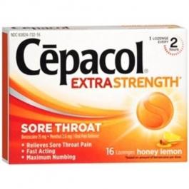 Cepacol Sore Throat Pain Relief Lozenges, Honey Lemon- 16ct