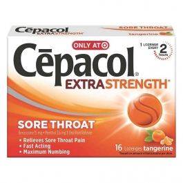 Cepacol Extra Strength Sore Throat Tangerine Lozenge- 16ct