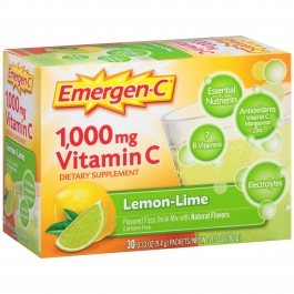 Emergen-C 1000 mg Vitamin C Dietary Supplement Fizzy Drink Mix Lemon-Lime - 30ct