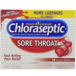 Chloraseptic Sore Throat Lozenges, Cherry - 18 count