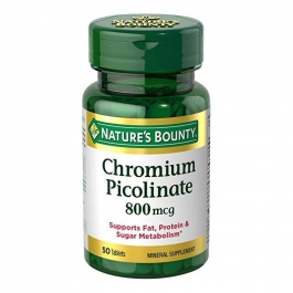 Nature's Bounty Mega Chromium Picolinate 800mcg Tablets 50ct