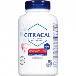 Citracal Calcium Citrate with Vitamin D Maximum, Coated Tablets - 180ct