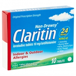 Claritin 10mg 24 Hour Tablet 10ct