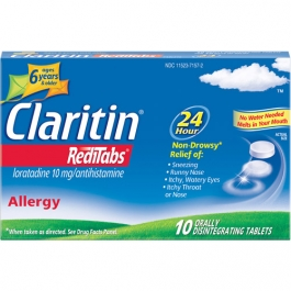 Claritin 24 Hour Allergy Relief, RediTabs - 10 Count