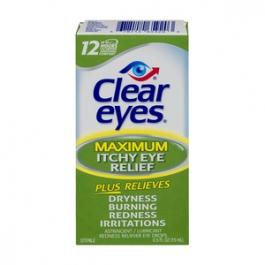 Clear Eyes Itchy Eye Relief Eye Drops- 0.5oz