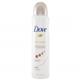 Dove Dry Spray AntiPerspirant, Clear Tone- 3.8oz