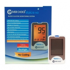 Clever Choice Voice HD Blood Glucose Meter, 1ct
