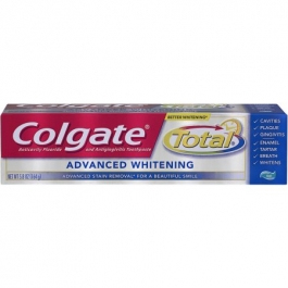 Colgate Total Anticavity Fluoride and Antigingivitis Toothpaste Gel Advanced Whitening - 5.8 oz