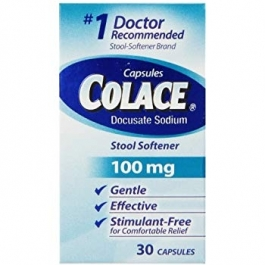 Colace® Docusate Sodium Stool Softener, 100mg- 30ct